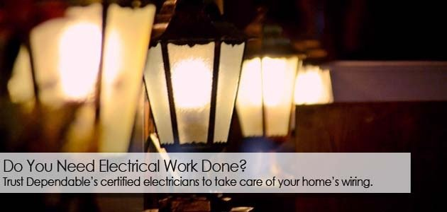 Dependable Heating, Air Conditioning and Electrical has certified electricians to handle your electrical work in Lake City FL